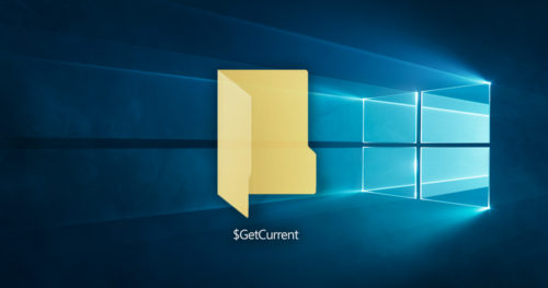 How to Delete $GetCurrent folder in Windows 10