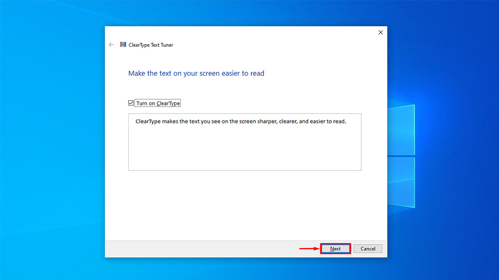 How to Turn On or Off ClearType in Windows 10