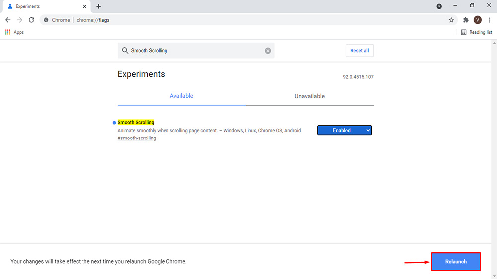 Steps to Enable or Disable Smooth Scrolling in Google Chrome