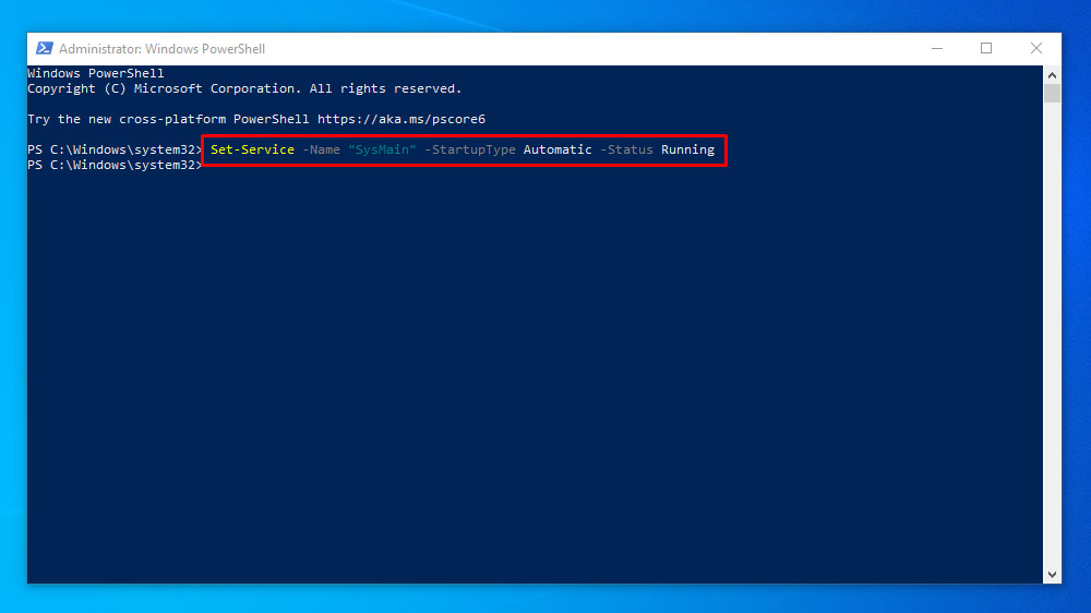 Steps to Enable or Disable SuperFetch using PowerShell