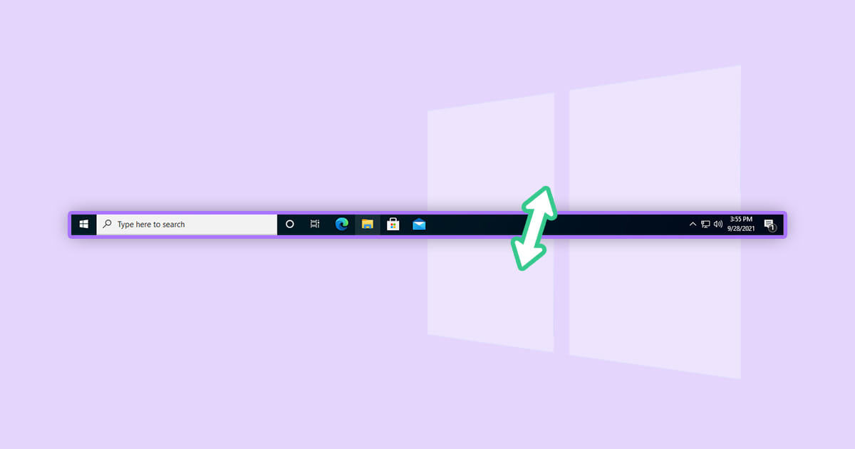 How to Change Height or Width of Taskbar in Windows 10